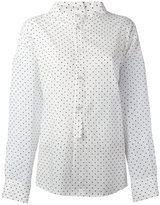 Y's high neck dots shirt - women - Cotton/Tencel - 1