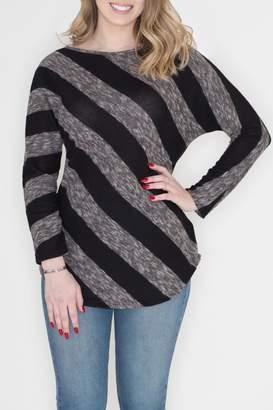 Cherish Diagonal Striped Top