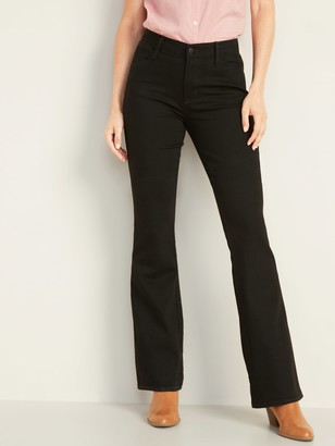 Old Navy Mid-Rise Micro-Flare Black Jeans for Women