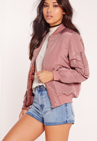 Missguided Padded Bomber Jacket Pink