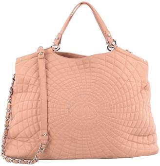 Chanel North South Tote Sea Hit Quilted Iridescent Pink