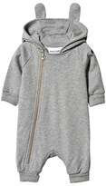 Mini Rodini Basic Bunny Onesie Grey Mel