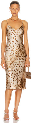 L'Agence Jodie V Neck Slip Dress in Cacao | FWRD