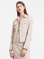 Calvin Klein Modern Surplus Suede Trucker Jacket
