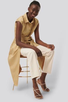 NA-KD Organic Sleeveless Shirt Dress