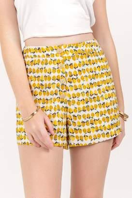 francesca's Dawn Lemon Classic Shorts - Mustard