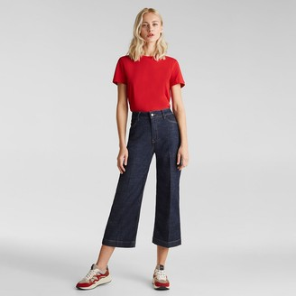 Esprit Cropped Wide Leg Jeans, Length 24""