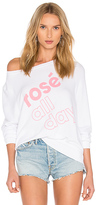 Wildfox Couture More Rose Top in White. - size XS (also in )