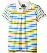 Toobydoo Blue & Yellow Stripe Short Sleeve Polo (Infant/Toddler/Little Kids/Big Kids)