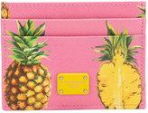 Dolce & Gabbana pineapple print cardholder - women - Calf Leather - One Size