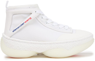 Alexander Wang A1 Leather-trimmed Mesh High-top Sneakers