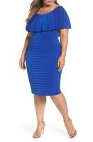 London Times Plus Size Women's Shutter Pleat Jersey Dress