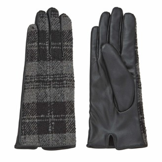 Mud Pie Women's Plaid Driving Gloves Grey One size