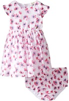 Armani Junior Floral Printed Cotton with Bloomer Girl's Dress