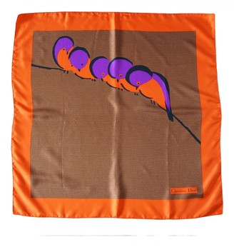 Christian Dior Orange Silk Scarves