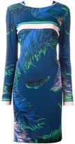 Emilio Pucci feathers print dress