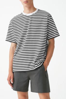 Cos Organic Cotton Contrast Stripe T-Shirt