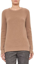 Akris Punto Ribbed Side-Vent Sweater, Camel