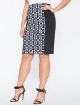 ELOQUII Plus Size Printed Scuba Skirt