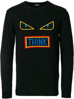 Fendi appliqué crew neck sweater