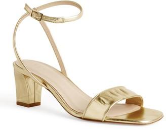 Sandro Paris Leather Croc-Embossed Sandals 60