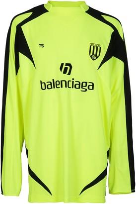 Balenciaga Soccer Long-Sleeved T-Shirt