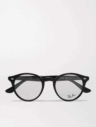 Ray-Ban Round-Frame Acetate Optical Glasses - Men - Black