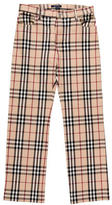 Burberry Nova Check Straight-Leg Pants