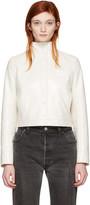 Courreges Ivory Short Logo Jacket
