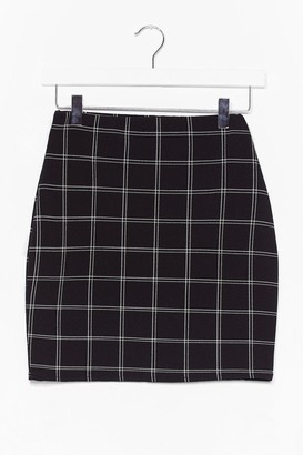 Nasty Gal Womens check mini skirt - Black - 8