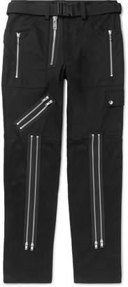 99% Is 99%Is 99%IS- - Slim-Fit Zip-Detailed Twill Trousers - Men - Black