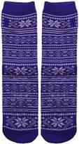Sockbin Womens Gripper Socks, Non-Skid Soles, Soft Cotton Slipper Socks, 1 Pair Blue