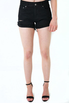 Just Black Denim High Rise Distressed Shorts