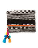 Ale By Alessandra Sergovia Embroidered Fold-Over Clutch, Orange/Black/White