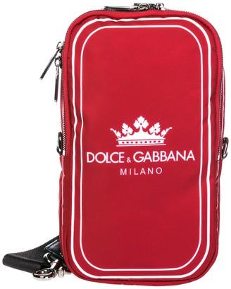 Dolce & Gabbana Logo Print Crossbody Bag