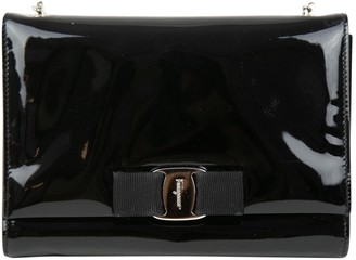 Salvatore Ferragamo Black Patent leather Handbags