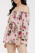 En Creme Floral Off Shoulder
