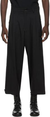 Yohji Yamamoto Black Wool Gabardine Trousers