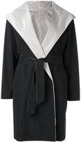 Max Mara hooded belt coat - women - Cotton/Polyester - 46