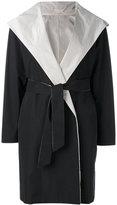 Max Mara hooded belt coat