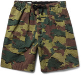 Dries Van Noten Camouflage-Print Cotton and Linen-Blend Shorts