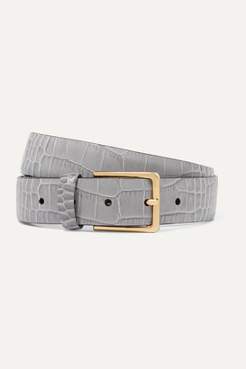 Andersons Anderson's - Croc-effect Leather Belt - Gray