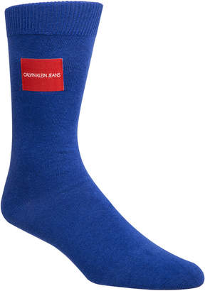 Calvin Klein Jeans Men Logo-Patch Crew Socks