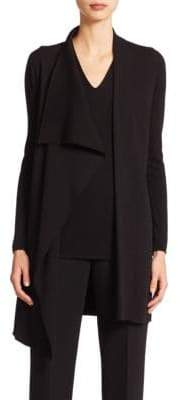Akris Architecture Collection Long Wool Cardigan