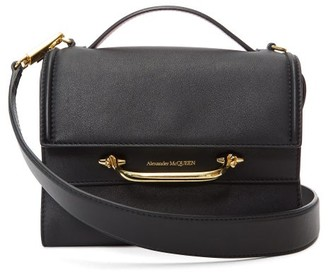 Alexander McQueen The Story Small Leather Bag - Black Red
