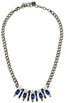 Dannijo Blue Alta Crystal & Faux Pearl Necklace