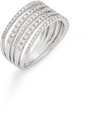 Bony Levy Monroe Stiletto Multi Row Diamond Band Ring