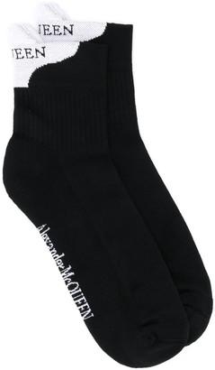 Alexander McQueen Contrast Heel Counter Socks