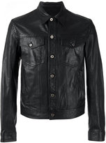 Just Cavalli button-up leather jacket - men - Calf Leather - 46