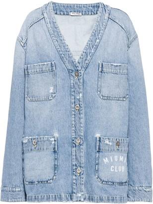 Miu Miu V-Neck Denim Jacket